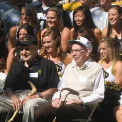 CU Cheer squad with Dick Meckley GK#507 and Archie Patton GK#666.jpg