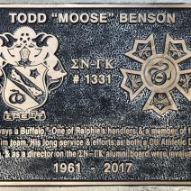 "Alumni Todd ""Moose"" Benson, 1961 - 2017"