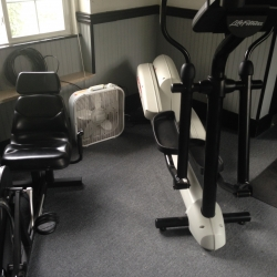 Exercise equip. in new 1st floor gym
